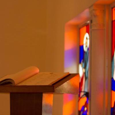 Lectern and Bible